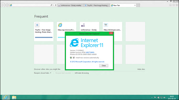 preview Windows Blue IE11