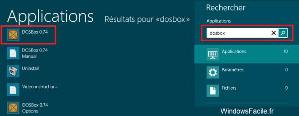 Recherche DOSBox