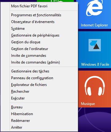 winxfacile personnaliser menu demarrer Windows8
