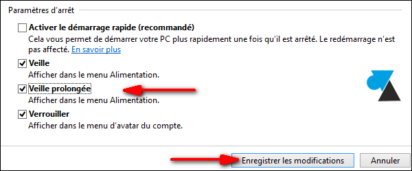 Windows 8 activer veille prolongee hiberfil hibernation