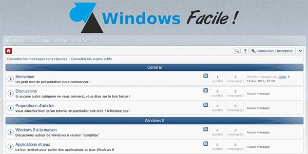 WindowsFacile.fr : ouverture du forum !