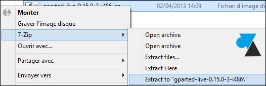 comment extraire fichier ISO avec 7zip