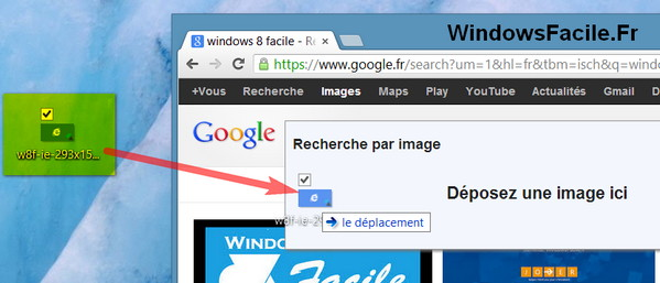 glisser deposer image google
