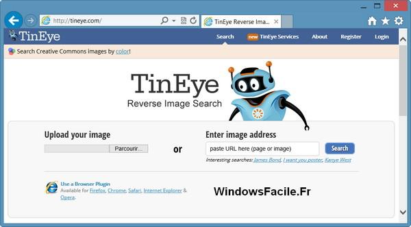 site internet tineye