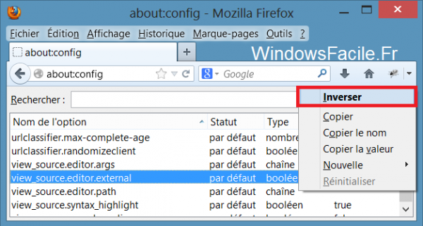 editor external firefox inverser
