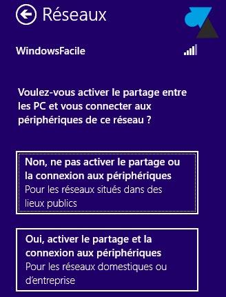 partage connexion reseau sans fil wifi
