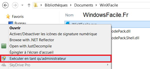Windows 8 programme administrateur