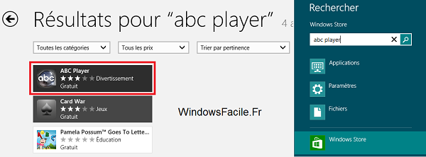 Windows Store ABC Player