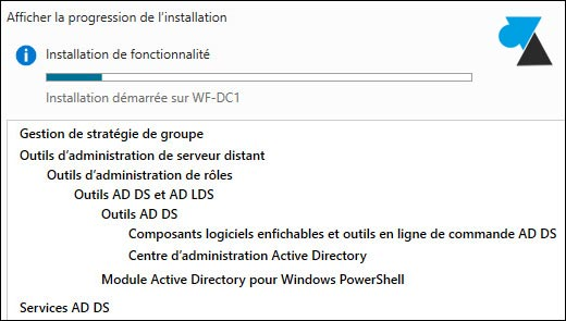 tutoriel Windows Server 2012 ajout role AD DS Active Directory