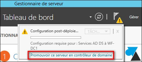 tutoriel Windows Server 2012 R2 promouvoir DC