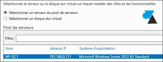 tutoriel Windows Server 2012 ajout role fonctionnalité