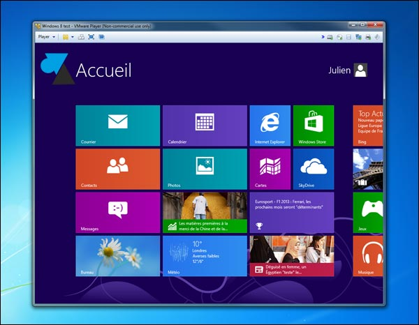 VMware Player Workstation Windows 8