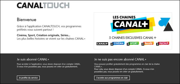 application replay TV CanalPlus direct sport HD