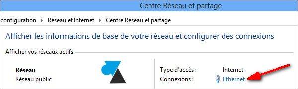 connexion reseau centre partage uptime Windows 8 Server 2012