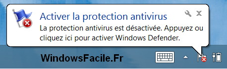 Windows Defender désactivé