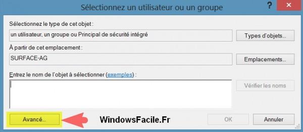 windows rt choisir utilisateur proprietaire