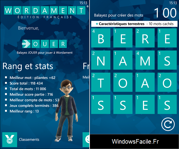 Wordament Windows Phone 8
