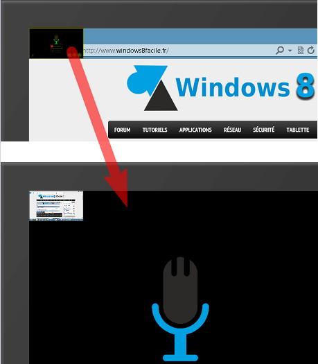 Défilement application Windows Store