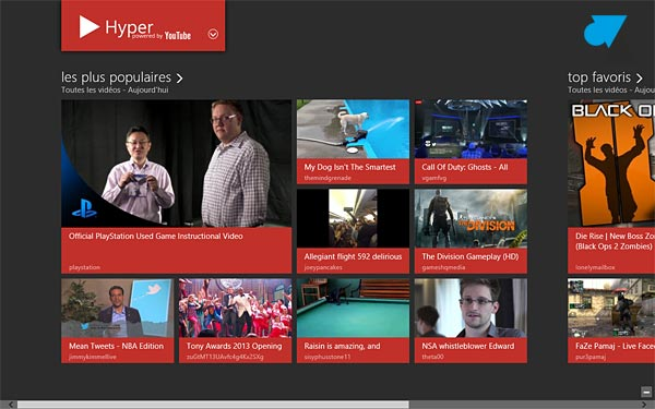 YouTube Hyper video accueil
