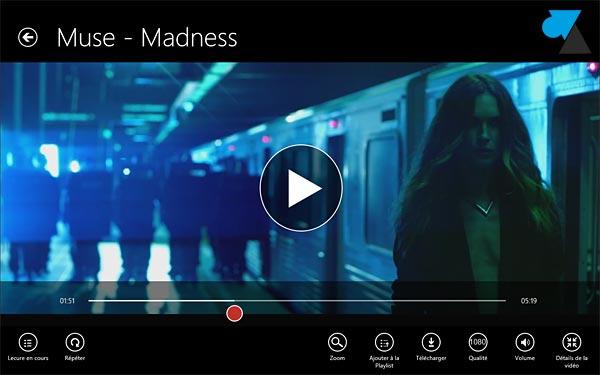 Windows 8 application YouTube Hyper video fullhd hd 1080