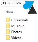 bibliotheque document musique photo image video Windows tutoriel