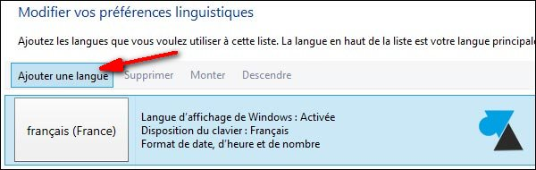 changer langue clavier Windows