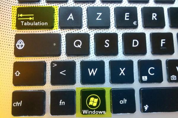 raccourci navigation entre applications Windows 8
