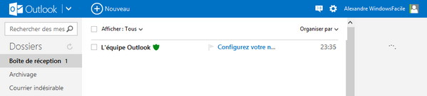 Outlook compte email