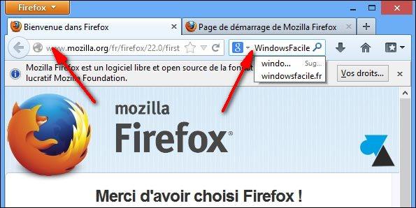 installation Firefox navigateur internet