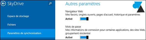 Internet Explorer 11 synchronisation SkyDrive