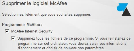 antivirus desinstaller McAfee Windows