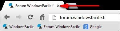 navigateur internet Google Chrome fermer onglet logiciel