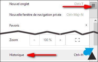 navigateur internet Google Chrome outils options configuration