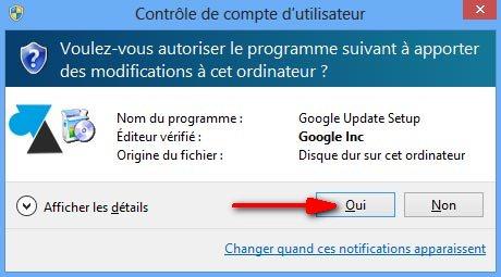 navigateur internet Google Chrome installation facile