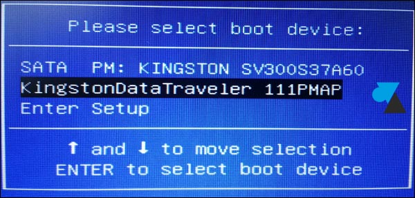 boot cle USB Kingston netbook Asus