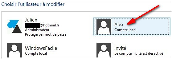 Windows 8 comptes utilisateurs supprimer