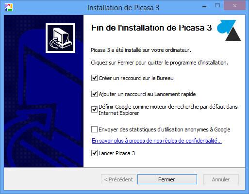 guide manuel Picasa installation logiciel Google