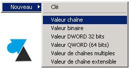 Backup Exec regedit valeur chaine