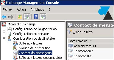 Exchange configurer groupe mail