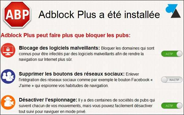 tutoriel Firefox Adblock configurer