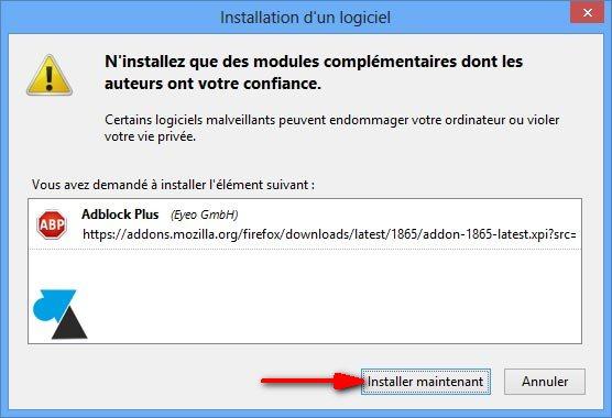 tutoriel Firefox Adblock installer