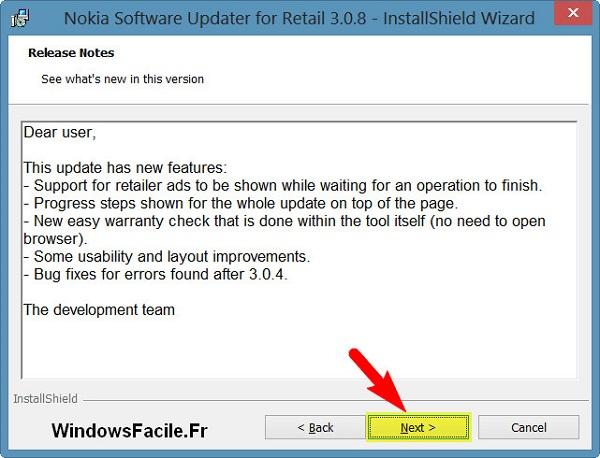 Informations sur le logiciel