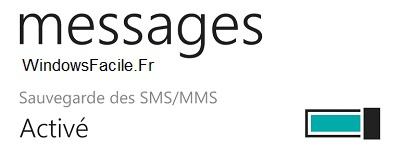 WP sauvegarde sms active