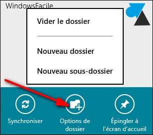 sous dossiers Courrier Windows 8