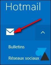 boite de reception Courrier Windows81