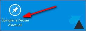 tutoriel epingler ecran accueil Windows 8 8.1