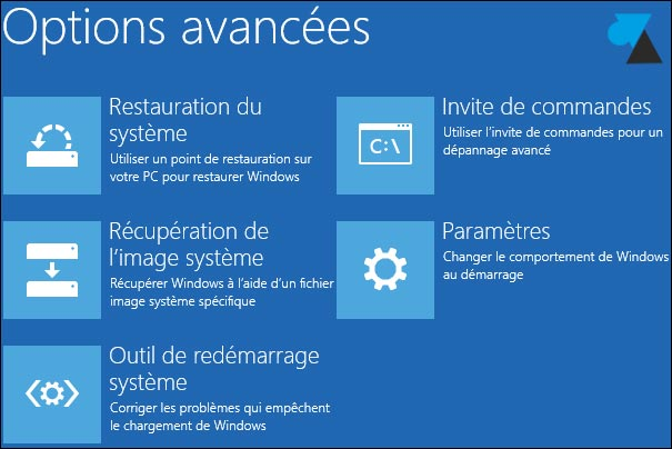options avancees Windows81