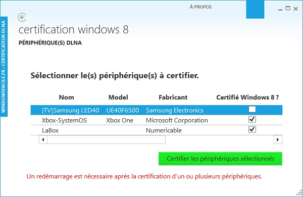 DLNA Certification Windows 8