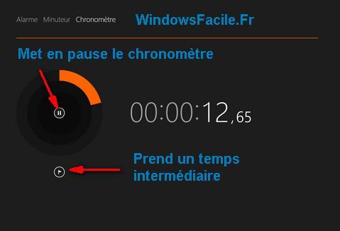 Alarmes chronomètre explications