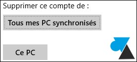 Courrier Windows 8.1 supprimer compte mail